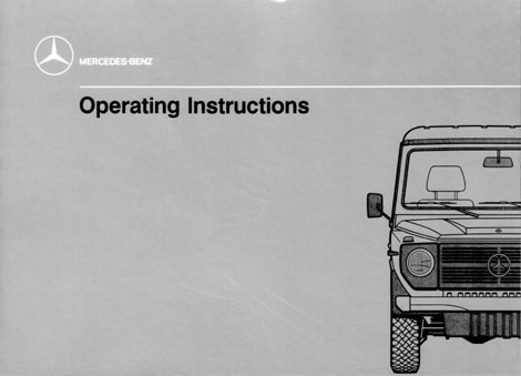 g class 460 gelaendewagen owners manual and operating instructions rh 4x4abc com mercedes benz owners manual 2008 e550 mercedes benz owners manual m350